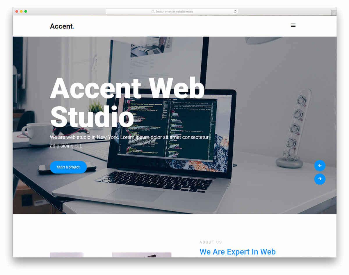 Accent-作品集網頁