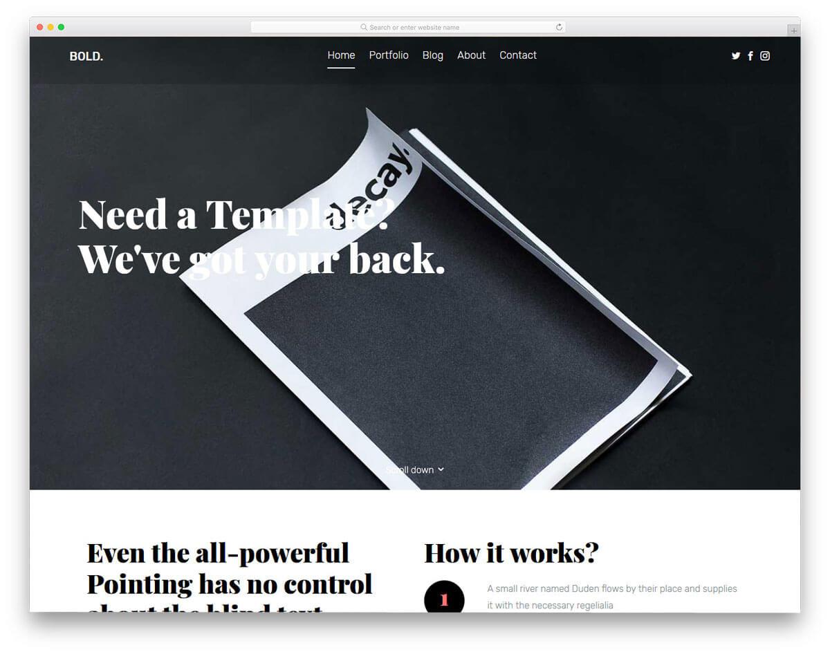 bold-平面設計作品集網站