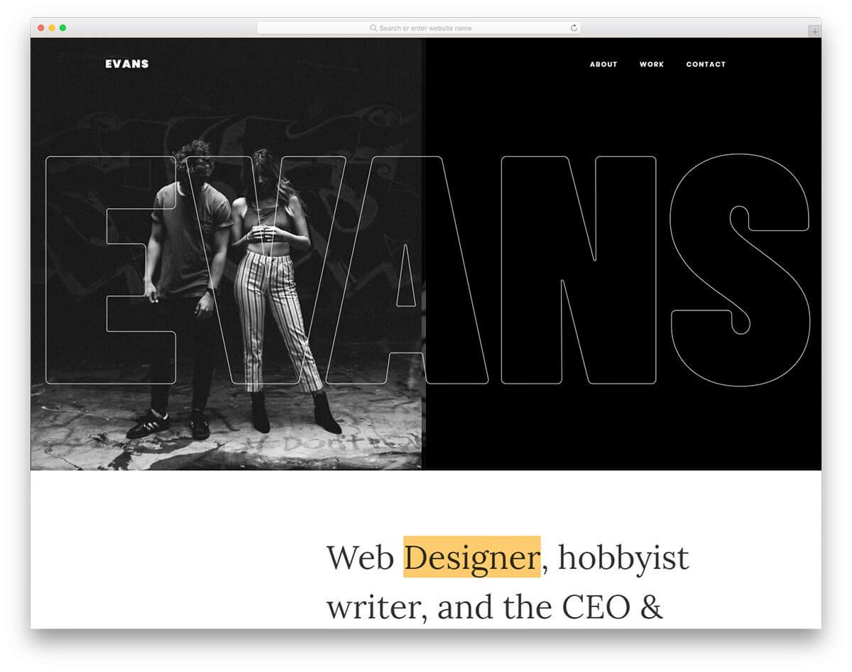 evans-作品集製作網站