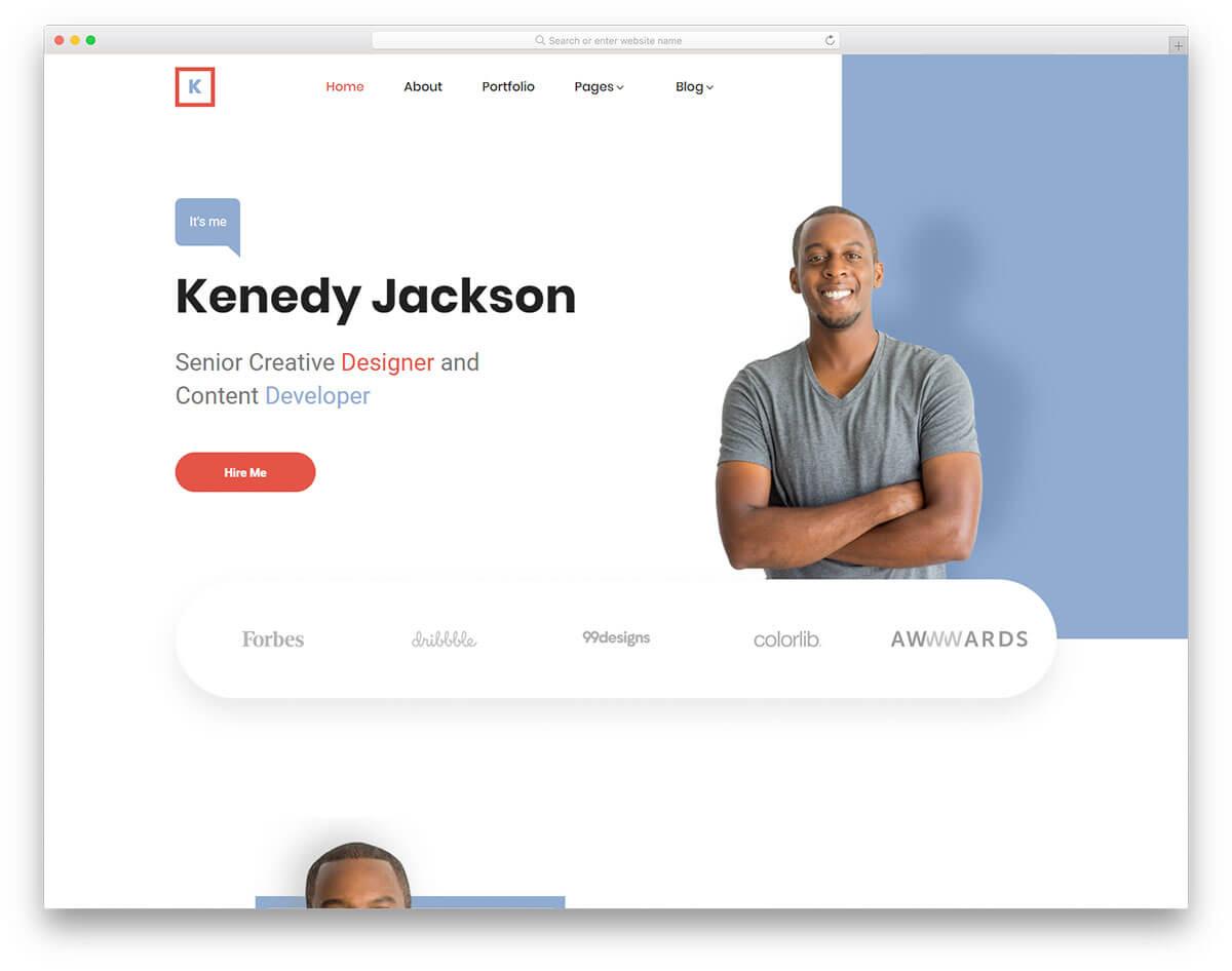 kenedy-作品集網站範例
