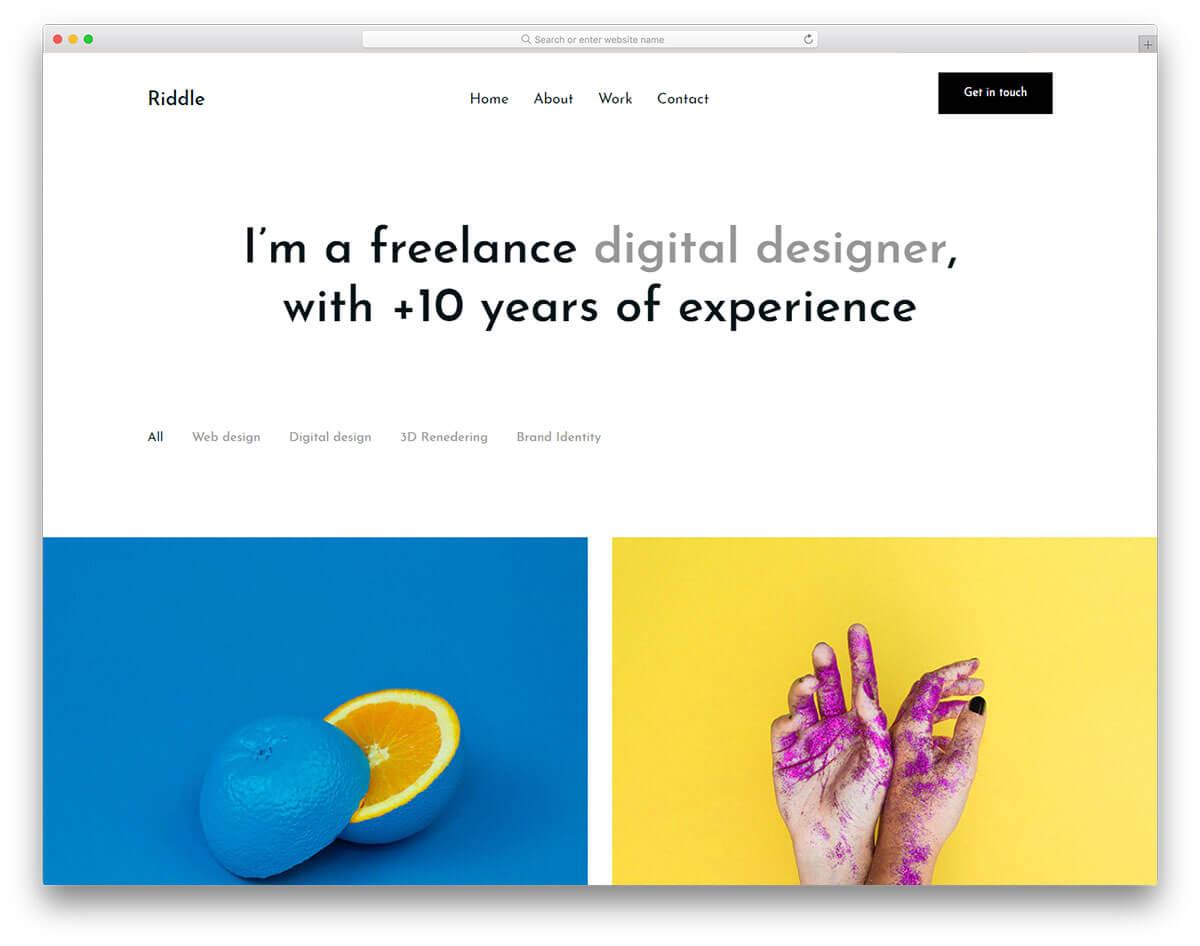 riddle-平面設計作品集網站