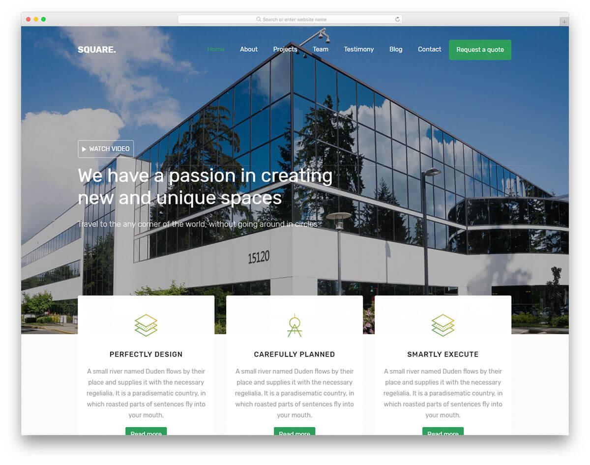 square-免費作品集網站