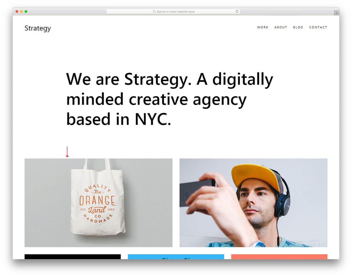 strategy-線上作品集網站