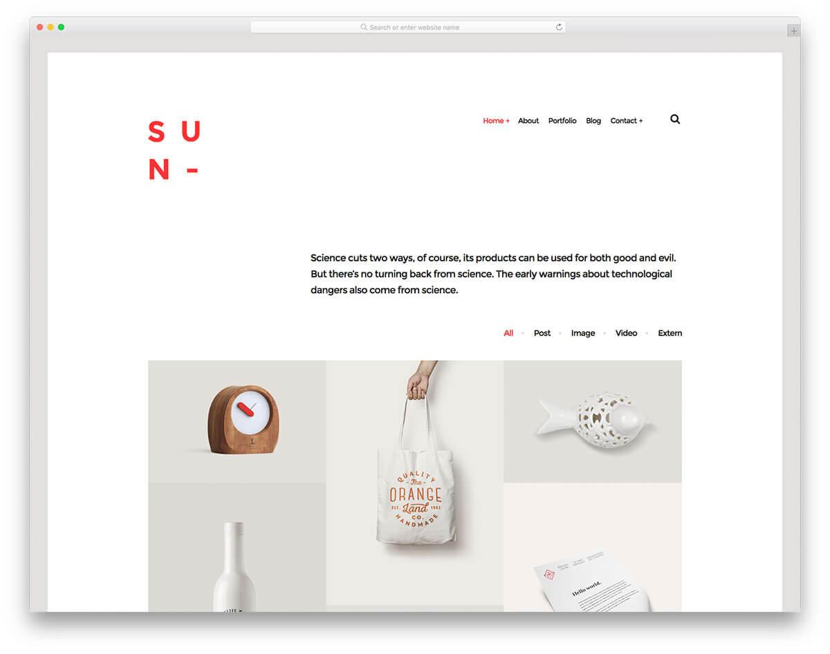 sun-作品集網站製作