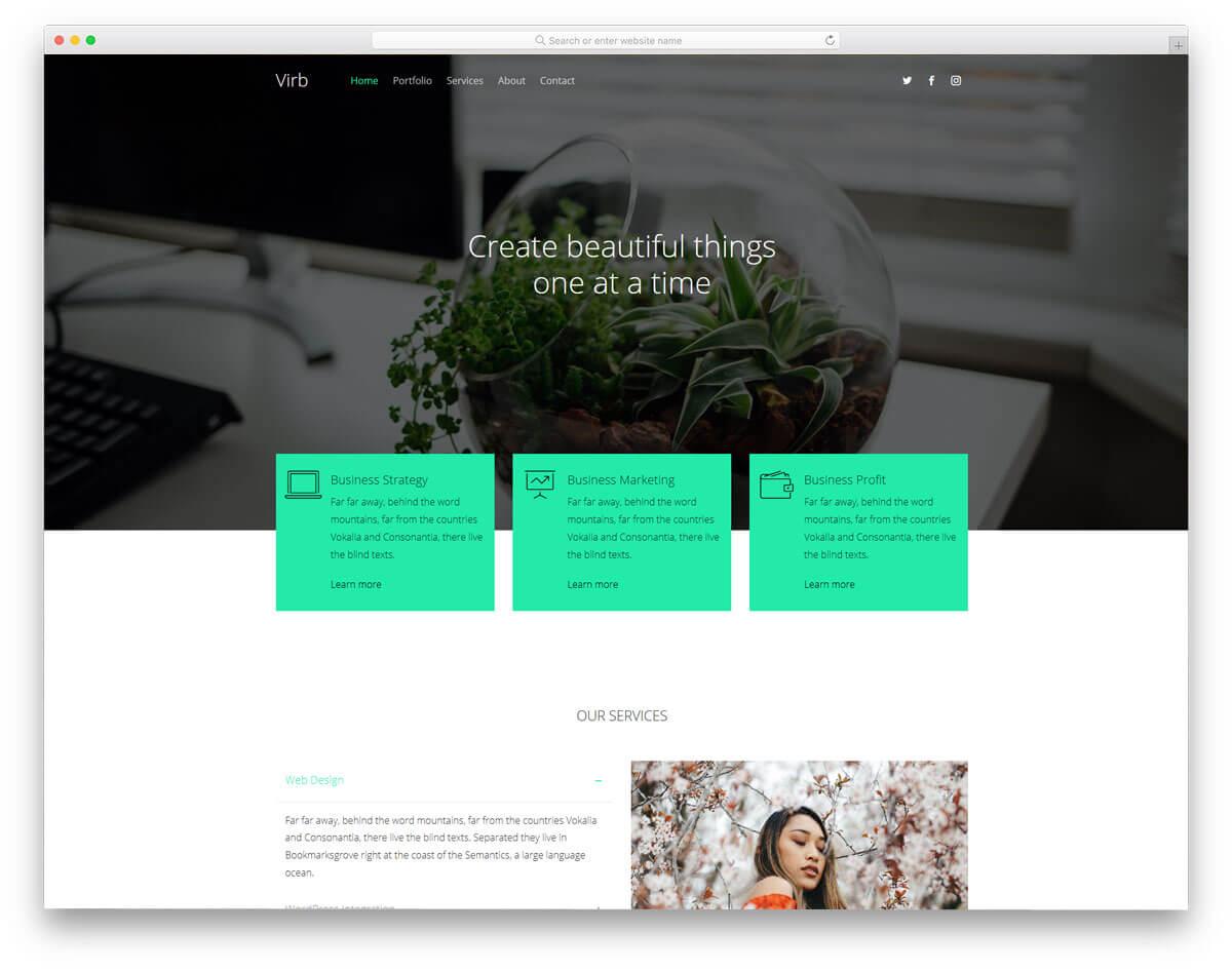 virb-作品集網站範例